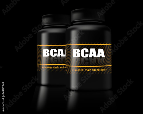 Photo BCAA container