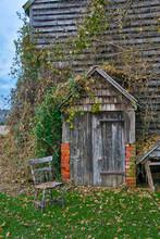 Farm Ruins Door To Cellar