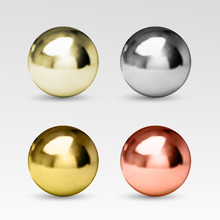 Chrome Ball Realistic Isolated...