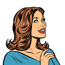 Beautiful Woman In Profile