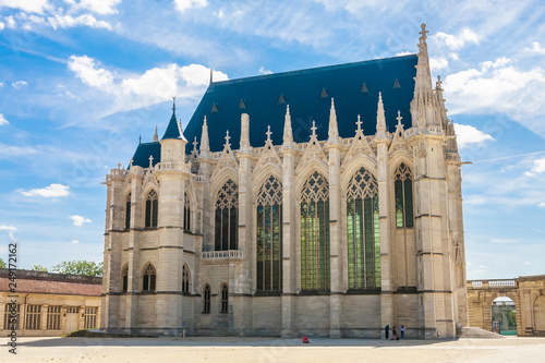 Crédence de cuisine en verre imprimé Con. Antique Europe, France, Vincennes, Chateau de Vincennes, The Sainte Chapelle