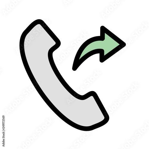 Valokuva  Outgoing Call Vector Icon