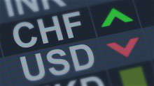 Swiss Frank Rising, American Dollar Falling, Exchange Rate Fluctuations, Finance