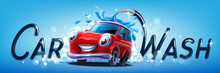 Car Wash Vector Banner