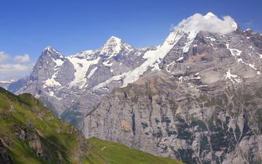 Góry Eiger, Monch i Jungfrau, Szwajcaria Alpy