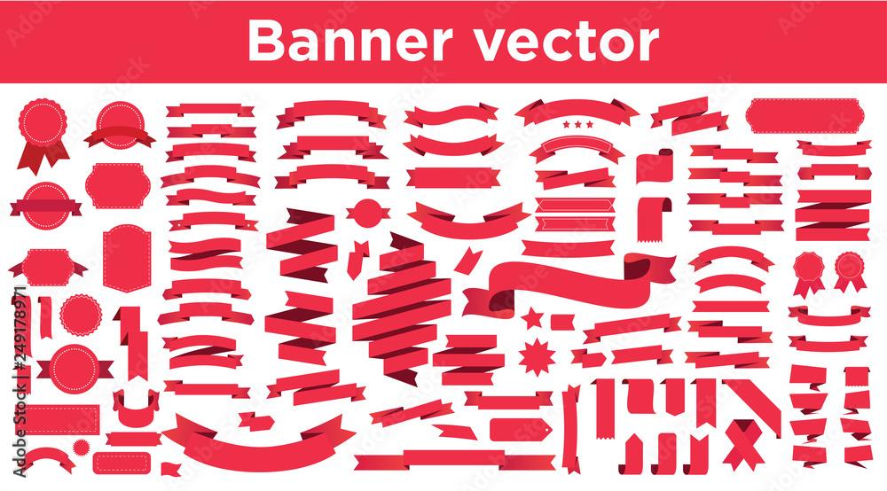 Fototapeta Banner vector icon set
