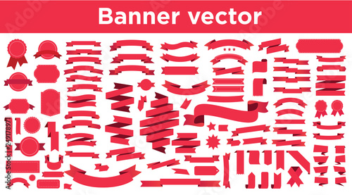Tablou Canvas Banner vector icon set