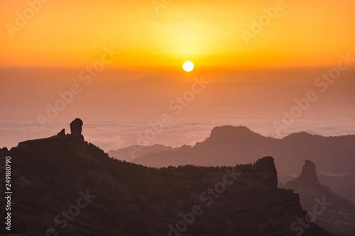 Fotografia  Roque nublo view from pico de las Nieves mountain