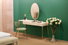 White Dressing Table With Wick...