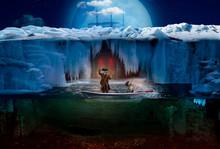 Northern Moonlit Night. Two Sa...