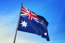 Australia Flag Waving On The B...