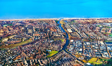 Aerial View Of Katwijk Town In The Netherlands