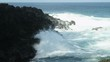 Waves crashing at Queens Bath in Hawaii
