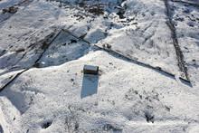 Yorkshire Dales Barn In Snow