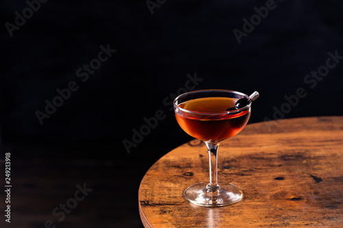 Refreshing Bourbon Manhattan Cocktail Wallpaper Mural
