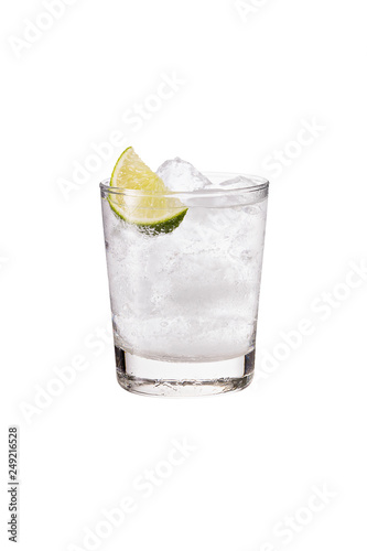 Refreshing Gin and Tonic on White Tablou Canvas
