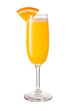 Vodka Orange Juice Mimosa Cocktail On White