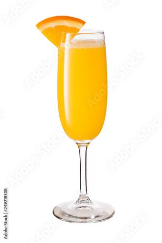 Fotografie, Tablou  Vodka Orange Juice Mimosa Cocktail on White