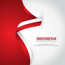 Indonesia Independence Day Vector Template Design Illustration