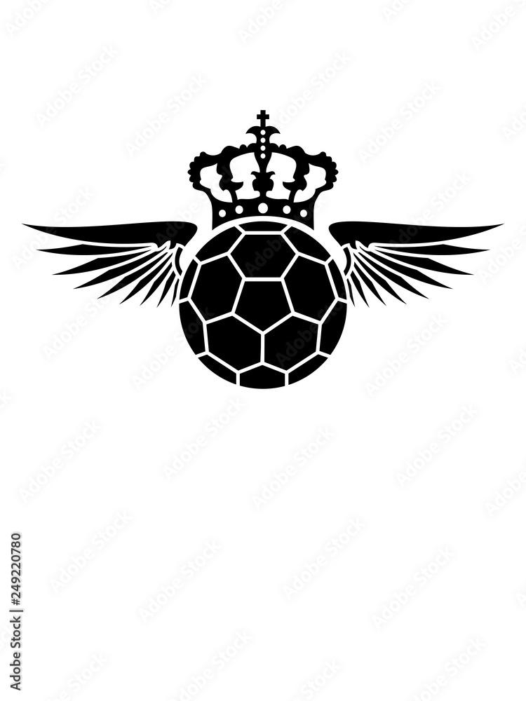 Gamesageddon Stock Krone Wappen Flugel Handball Sport
