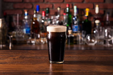 Refreshing Dark Stout Craft Beer