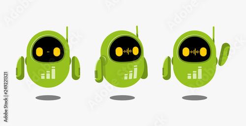 Leinwand Poster Green Robot Illustration