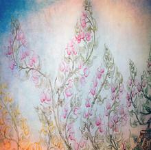 Vintage Floral Background Texture