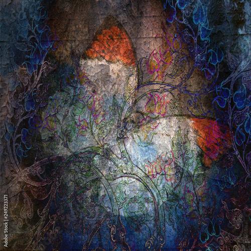 grunge tekstury tło motyl z ręki grunge motyla tłem