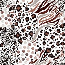 Mix Animal Skin Prints ,Leopar...
