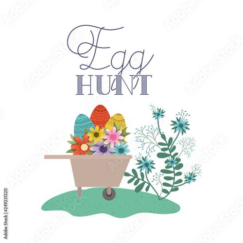 Fototapety, obrazy: egg hunt label isolated icon