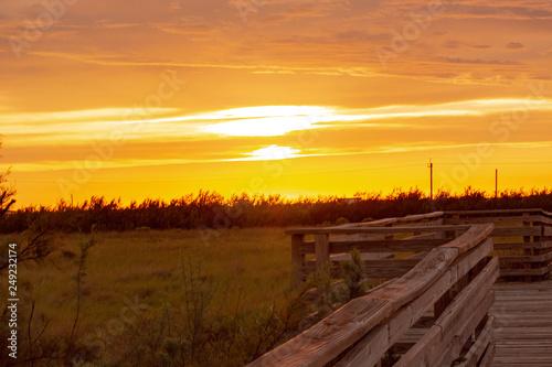 Foto auf Gartenposter Strand Countryside sunset