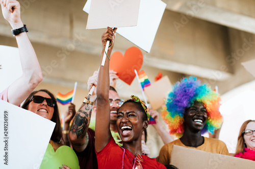 Cheerful gay pride and lgbt festival Canvas Print