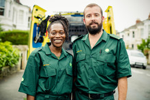 Portrait Of A Team Of Paramedics