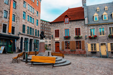 Place Royale (Royal Plaza) Buildings In Quebec City, Quebec, Canada