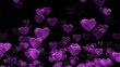 Purple abstract hearts background. Seamless loop Valentines Day holiday animation.