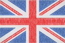 United Kingdom Painted Flag