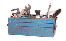 Old Toolbox Filled With Vintag...