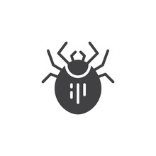Mite Pest Vector Icon. Filled ...