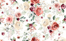 Seamless Pattern With Flowers ...