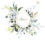 botanical design. herbal banners on white background for wedding invitation, business products. web banner with leaves, herbs - 249264982