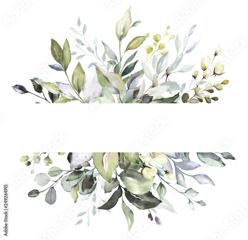 Botanical Design Horizontal Herbal Banners On White Background For Wedding Invitation Business Products Web Banner With Leaves Herbs Buy This Stock Photo And Explore Similar Images At Adobe Stock Adobe Stock