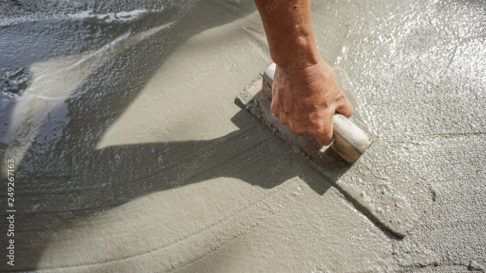 Fototapeta construction - plasterer concrete
