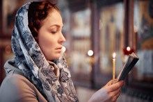 Woman In The Russian Orthodox ...