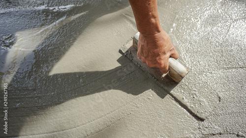 construction - plasterer concrete Canvas Print