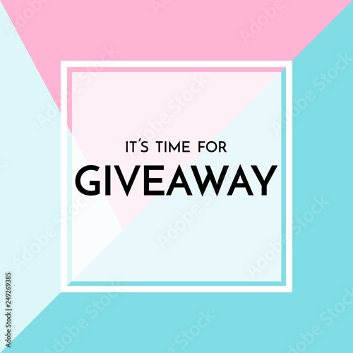 Valokuva Time for giveaway - banner template