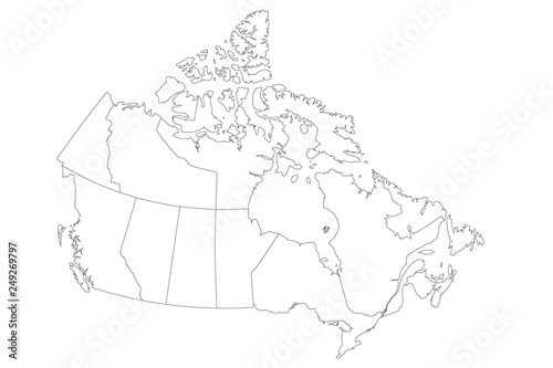 Map of Canada divided into 10 provinces and 3 territories ... Canadian Blank Map on blank place value chart, blank sheet of canada, canadian capitals map, black canadian map, united states map, empty canadian map, blank canadian flag,