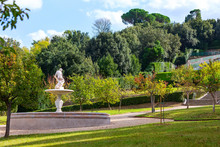 Fountain Statue View In Boboli...