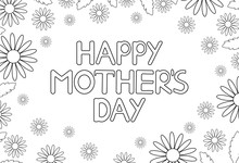 Happy Mother's Day Card With F...