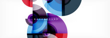 Abstract Background Circle Des...