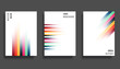 Gradient colorful lines background template. Vector illustration.